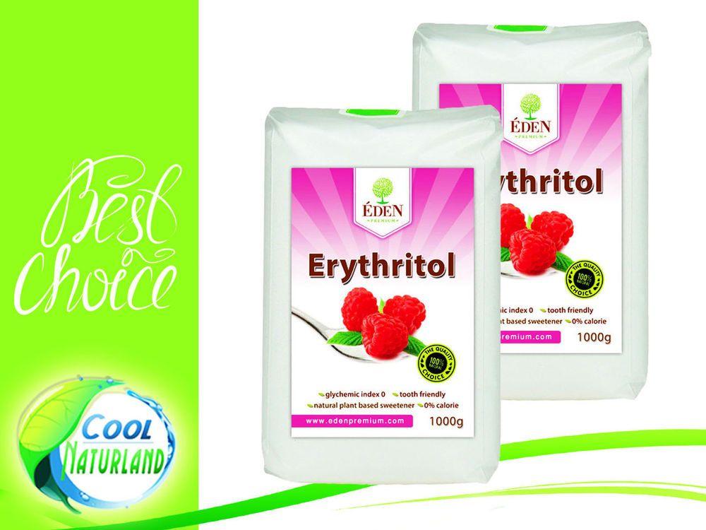 Erythritol Zucker 2x1 kg veganer Zuckerersatz Kalorienfrei