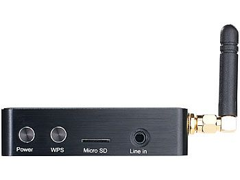 Audio Streaming Receiver, Wifi, RJ45, S/PDIF, AirPlay, UPnP