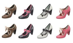 coleção de sapatos dijean
