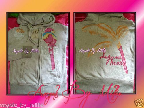 30% Off This Weekend Only! RARE #Hollister M Oatmeal HCO Bling Parrot Palm Tree Laguna Limited Ed Hoodie | eBay