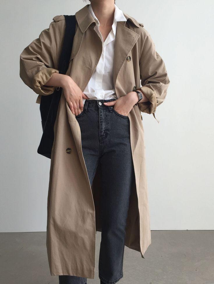 Über 30 minimalistische Outfit-Ideen für den Herbst #trench #minimal #minimalclothing