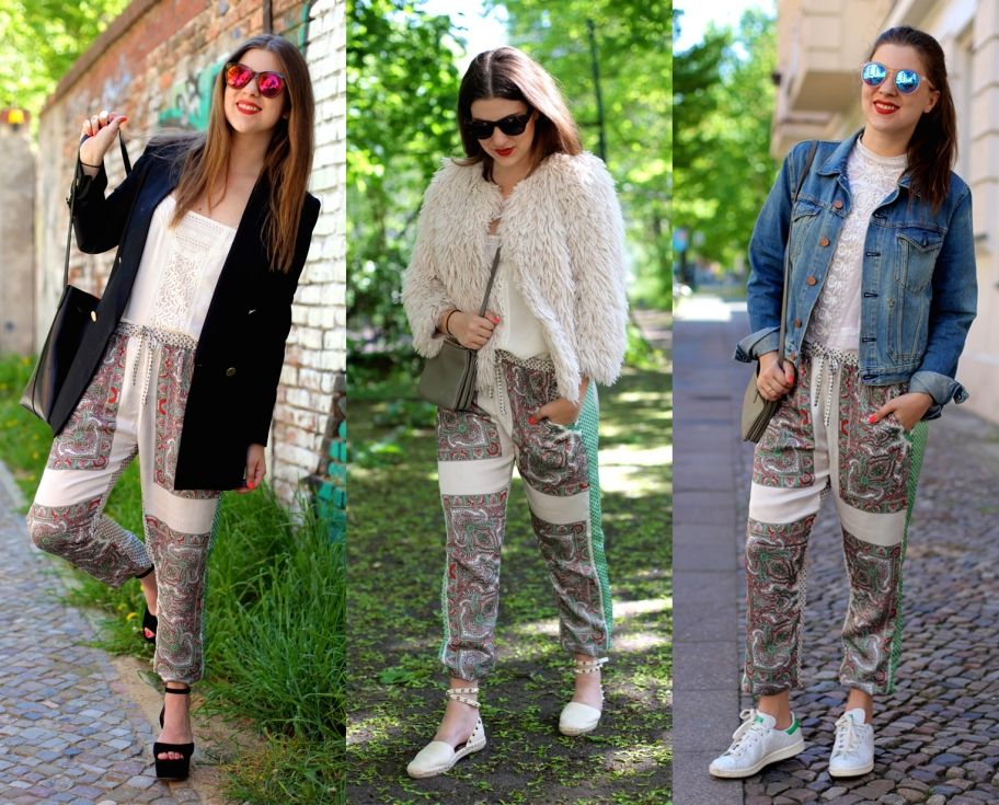 3 ways to wear: die Printhose