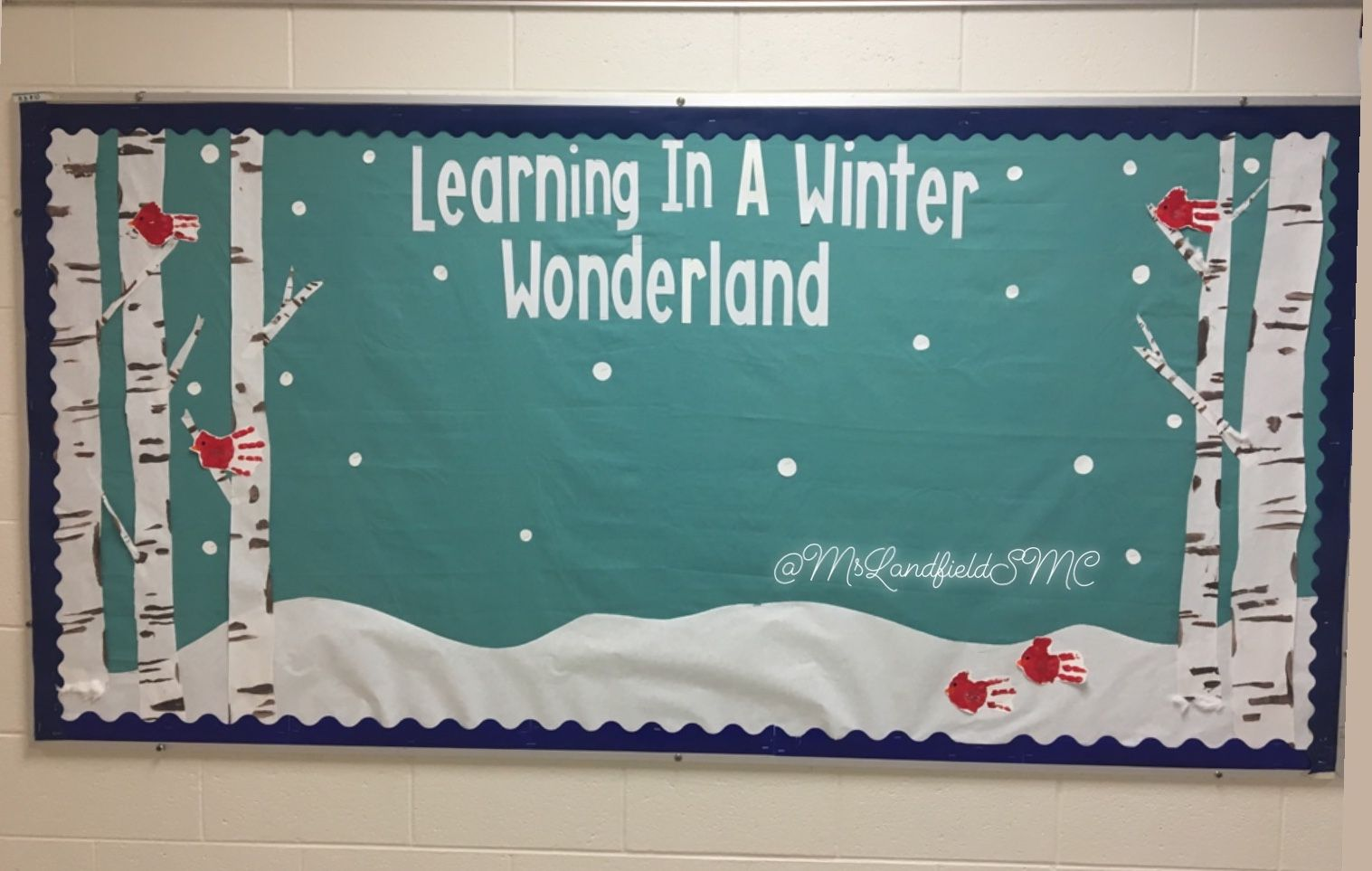 Winter Bulletin Board For Kindergartener Work To Be Added Christmas Boards