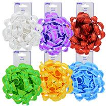 Voila Colorful Dual-Finish Gift Bows, 6 in.