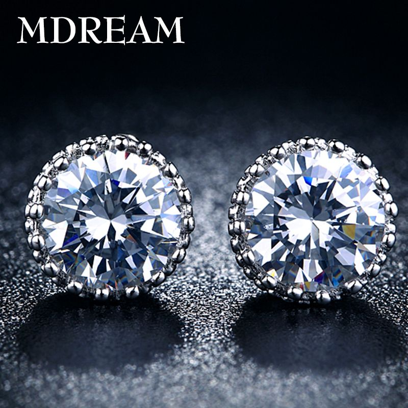Corona de plata Aretes de joyería de Moda para las mujeres pendientes de la boda de la vendimia 2016 Nuevos Llegados MSE001