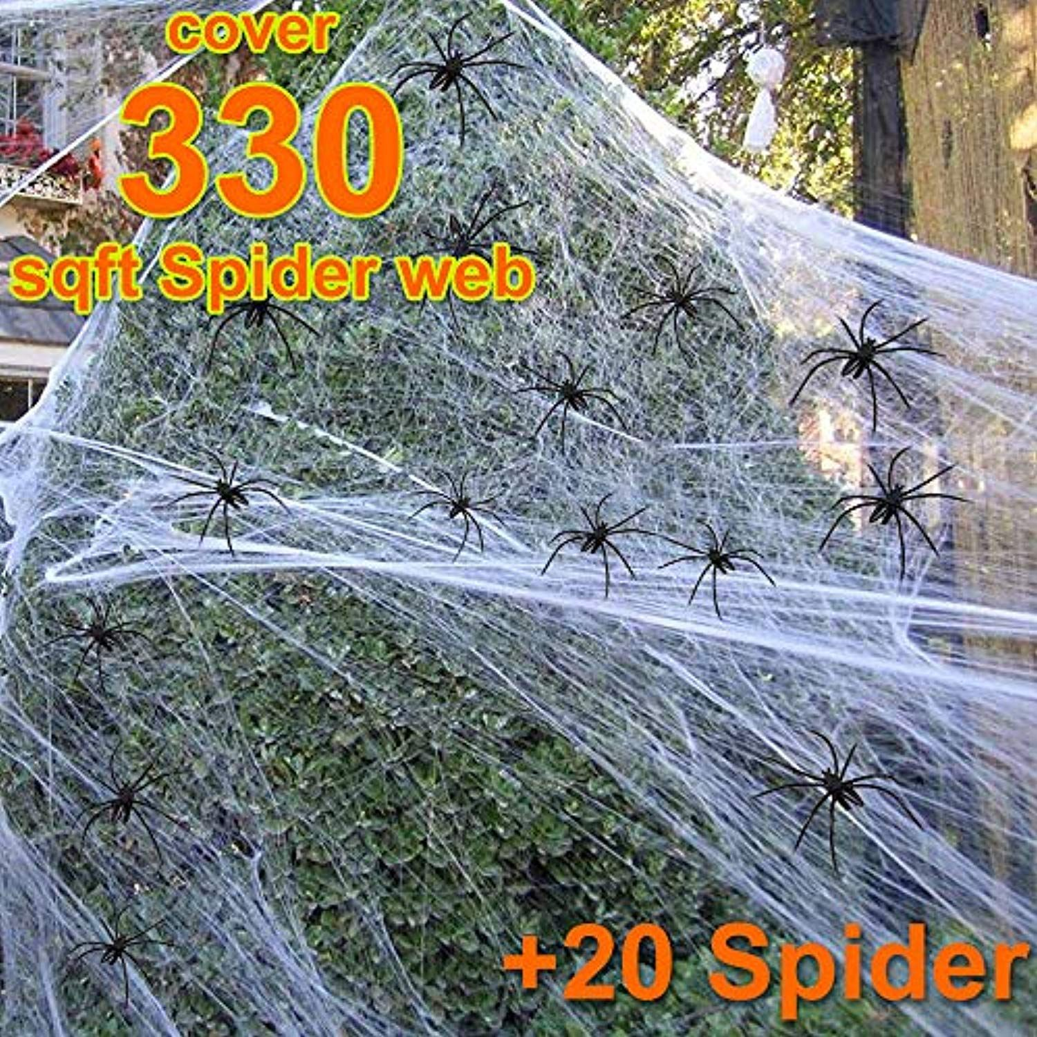Halloween Spider Web Decorations Props Covered 330sqft