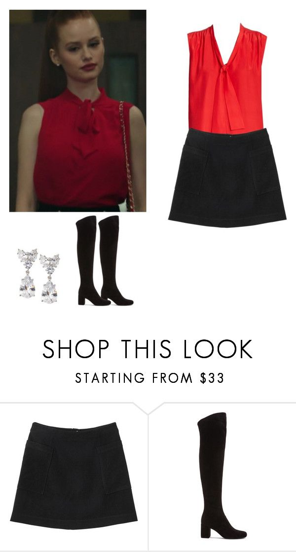 cheryl blossom outfit with a skirt and knee boots