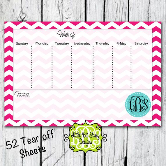 Desk calendar/to do list - Etsy listing at   wwwetsy