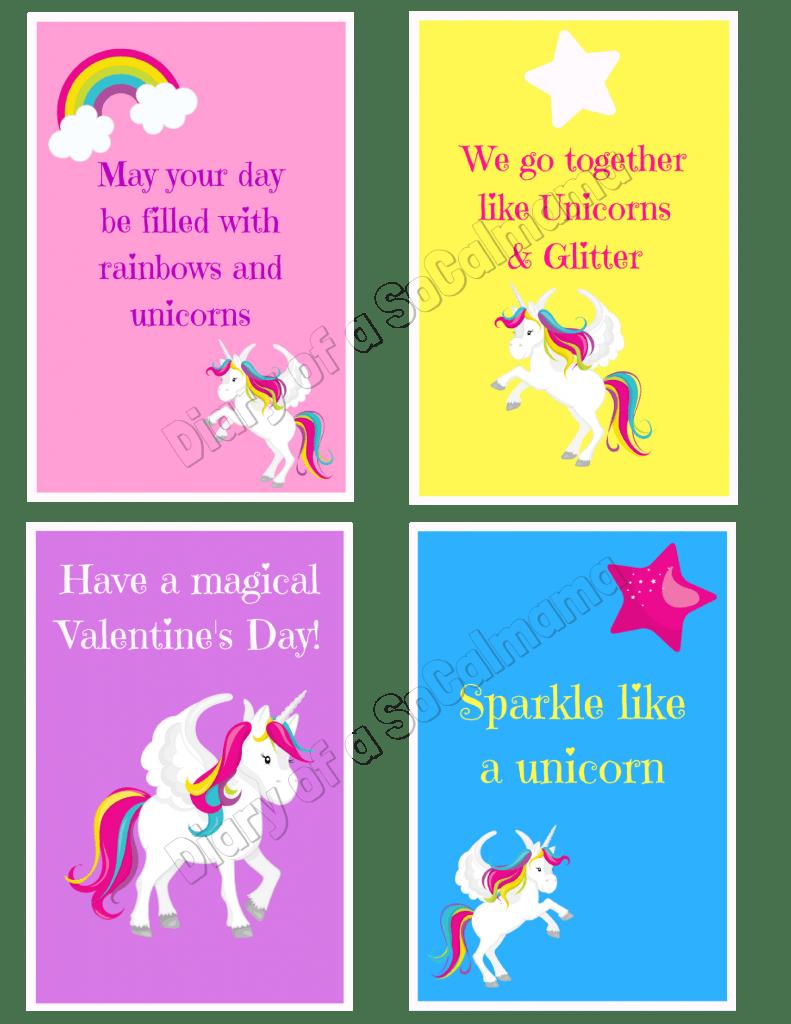 Valentine/'s Day Cards Unicorn Valentine/'s Day Unicorn Face Valentines Magical Valentine Unicorn Valentines Printable Unicorn Valentines
