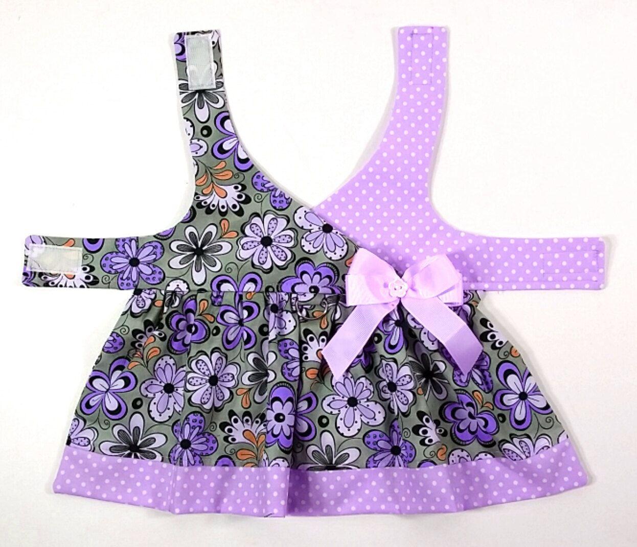 Roxanne Dog Dress -SMALL & MEDIUM- Dog Clothes, Sewing Pattern, Dog Clothing PDF Pattern #bedfalls62