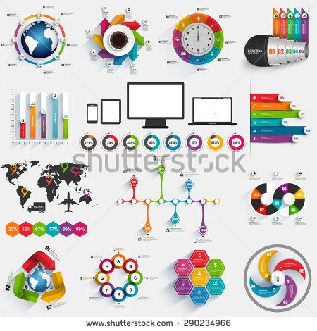 Collection of infographic vector design template Can be used for