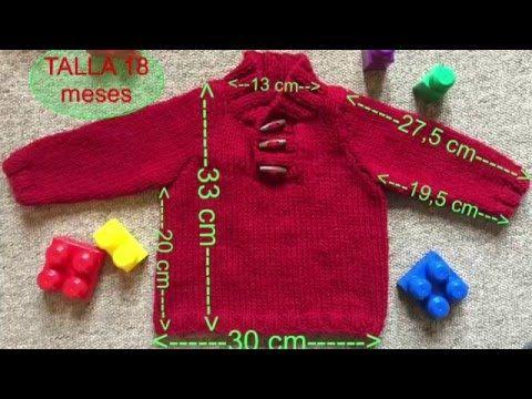 8b0021d74 Apunto DIY  Jersey de Punto para Bebe talla 18 meses a Dos agujas o Agujas  Circulares