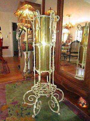 Vintage Copper Brass Wrought Iron Tole Fleur de Lis French