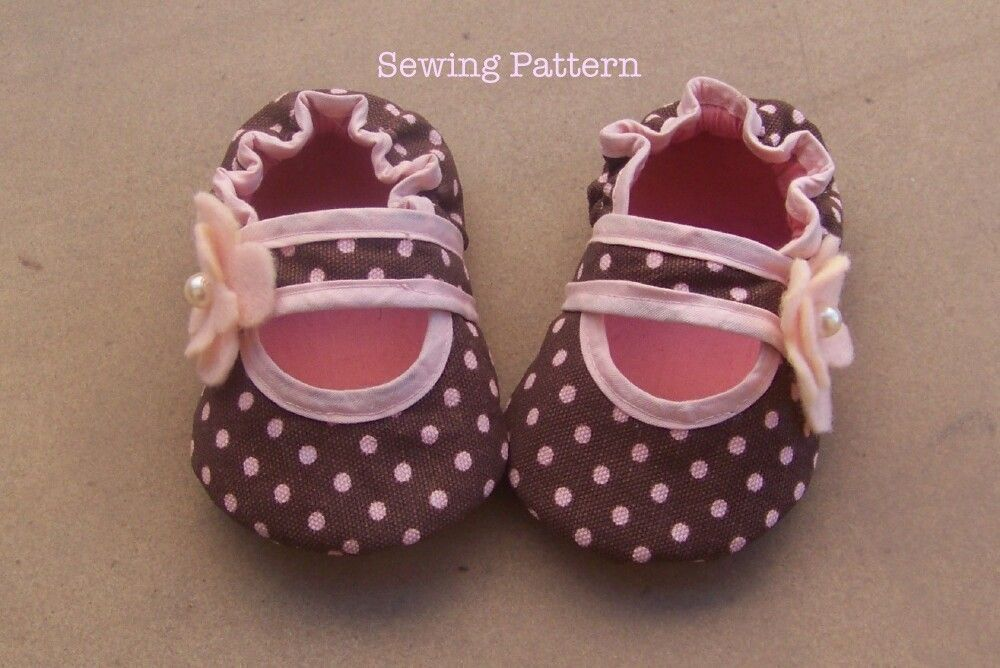 Bella Baby Crib Shoe Sewing Pattern /Tutorial- 5 different sizes ...