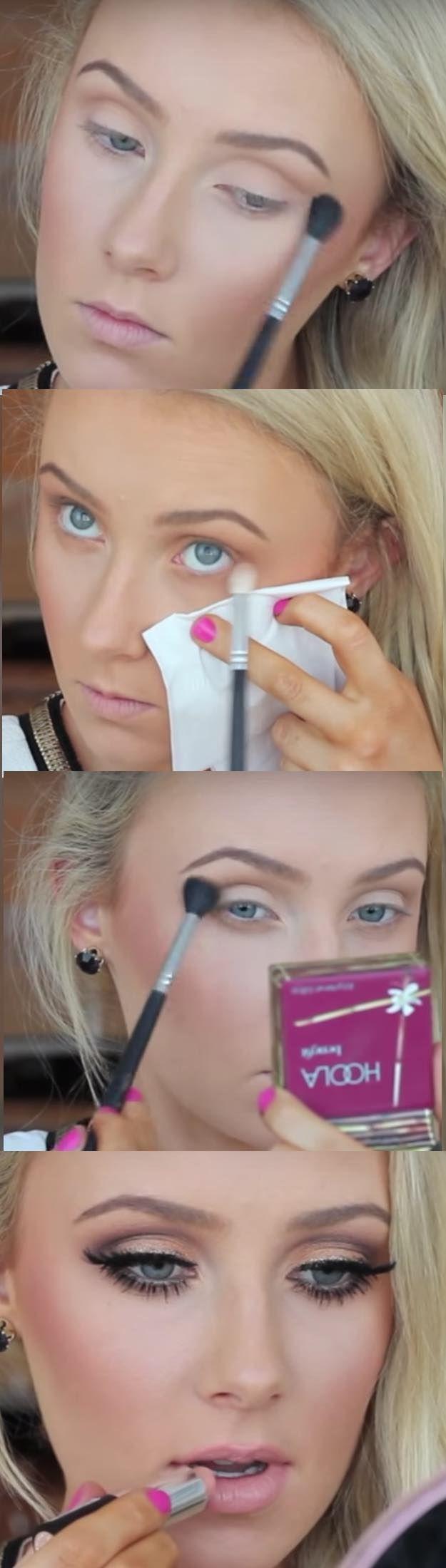 Makeup Tutorials for Green Eyes -Ultimate Bronze Smokey Eye Tutorial -Easy Eyesh…