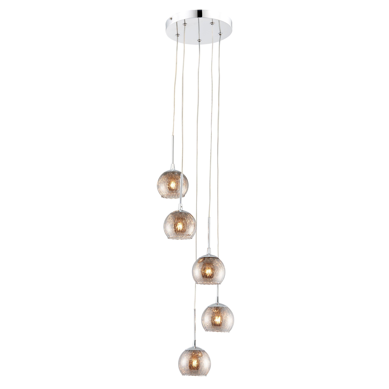 Roset Chrome Effect 5 Lamp Pendant Ceiling Light   Departments   DIY ...