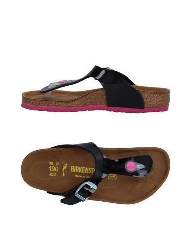 BIRKENSTOCK Girl's' Toe strap sandal Black 13C US