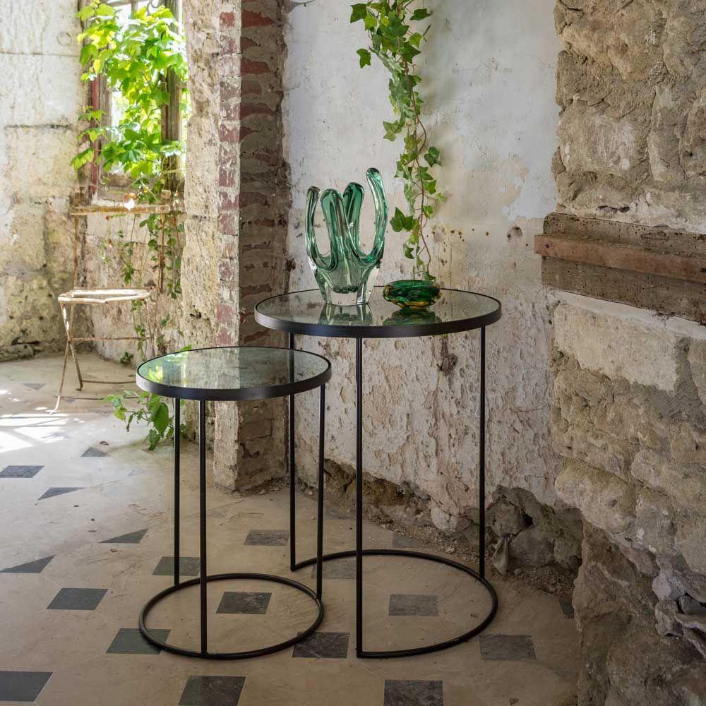 Beistelltische Glossy Tischplatte Aus Spiegelglas Www Milanari Com Beistelltische Couchtisch Metall Beistelltisch Rund