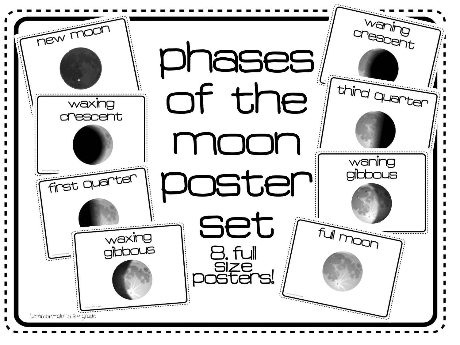 Here S A Set Of Posters On The Phases Of The Moon