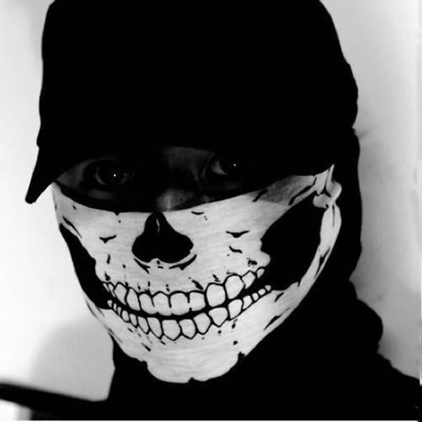 Skull Face Mask Neck Tube Scarf Snood Balaclava Ski Cycle Biker BMX Paintball Bandana