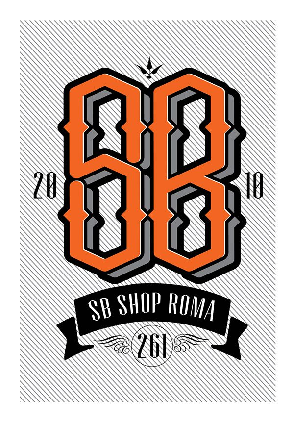 SB clothing store logo on Behance