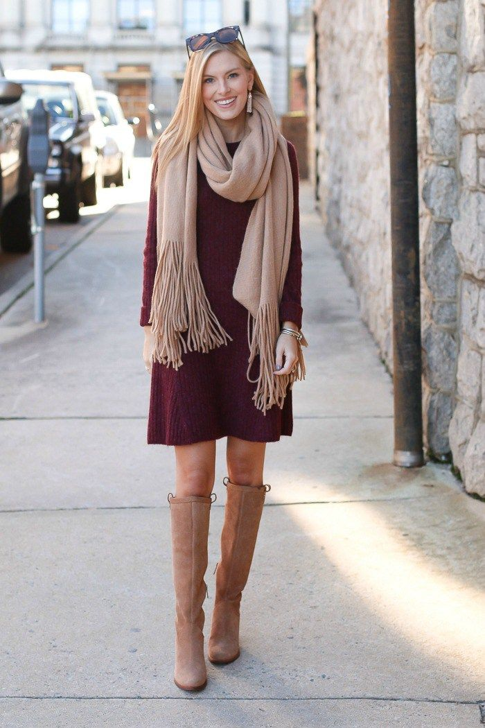 Today I M Sharing A Fit And Flare Sweater Dress From