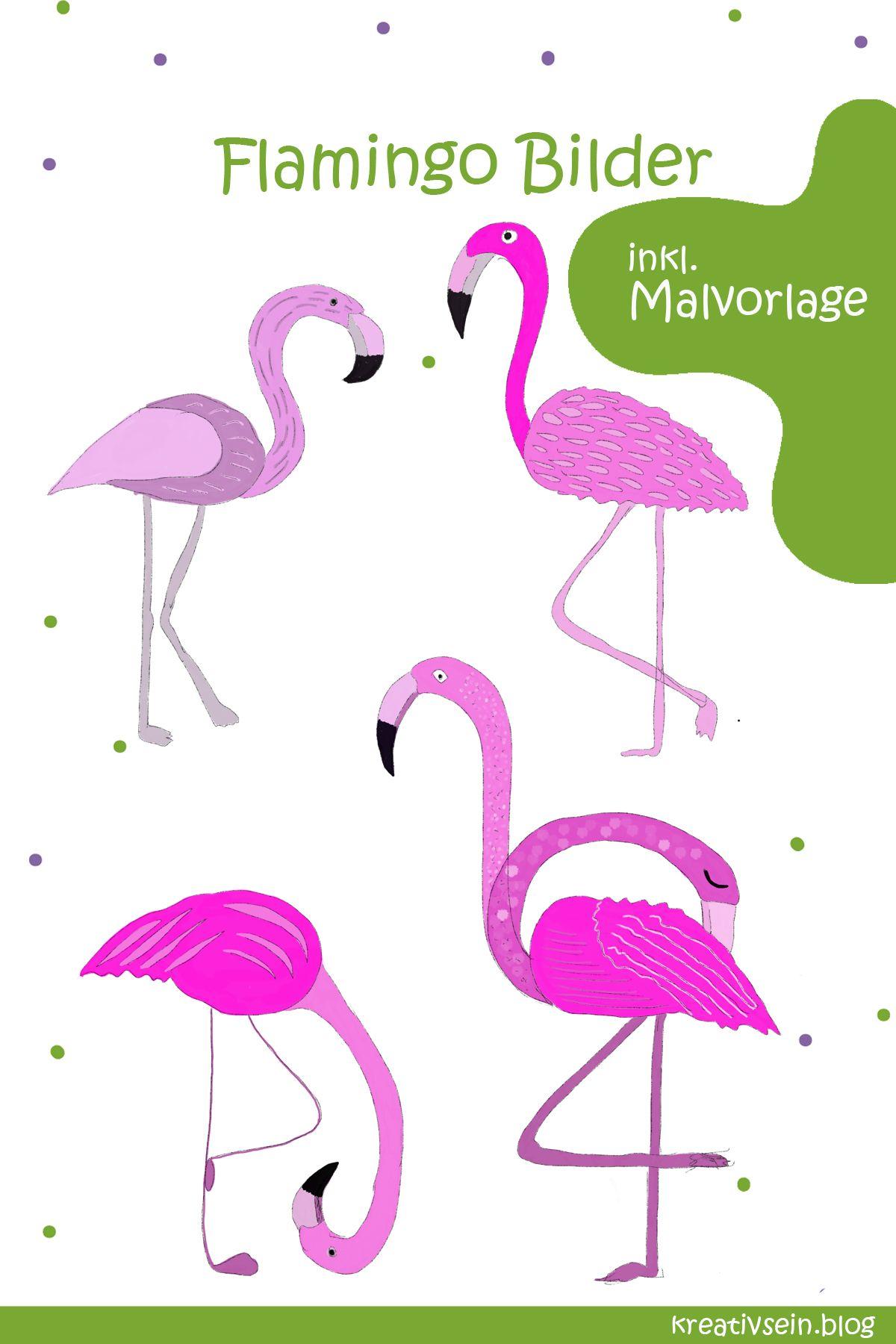 Flamingo Malen für Flamingo Fans - kreativsein.blog  Flamingo