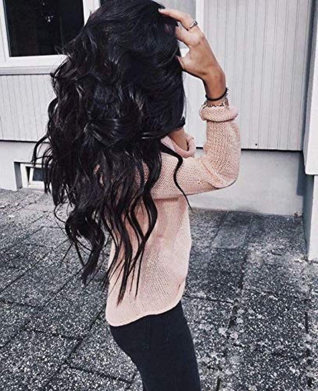 Moresoo Human Hair Bundles Doppelschuss Haarverlangerungen 100g Full Head Set Moresoo Human Hair Bundles Doppelsc Lange Schwarze Haare Haare Schwarzes Haar