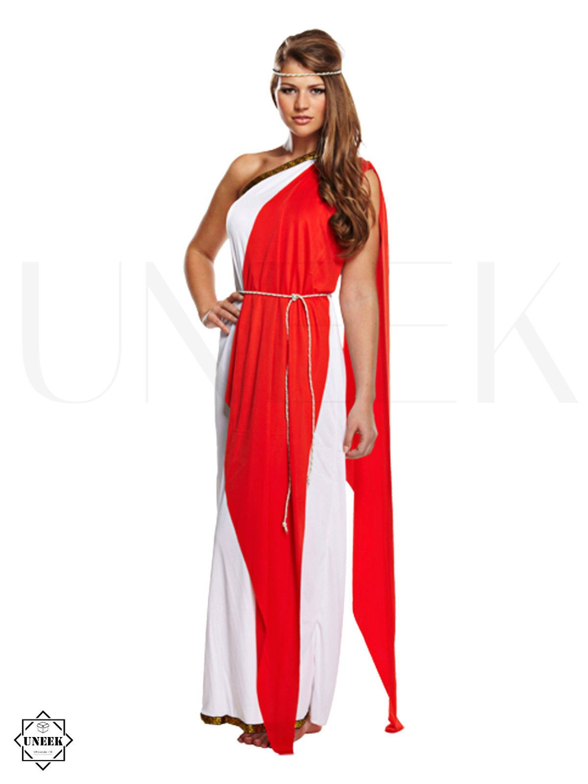 ladies greek / roman toga fancy dress adult goddess halloween