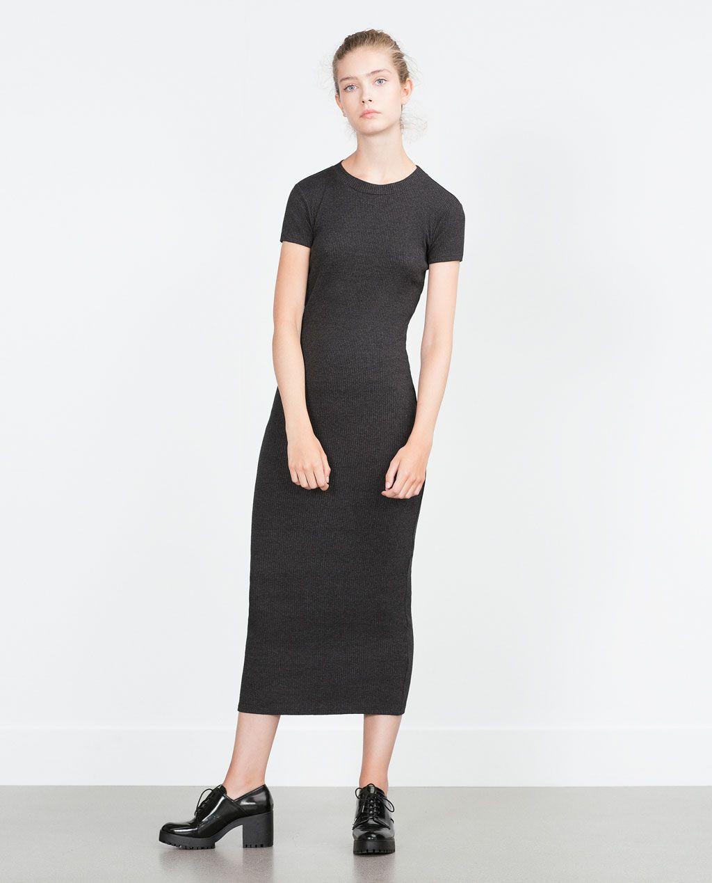 Vestido Y CanaléNoir Zara Mujer CanaleVestidos N8nyv0wmO