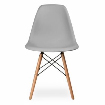 Iconic Designs Dsw Style Plastic Dining Chair Cool Grey With