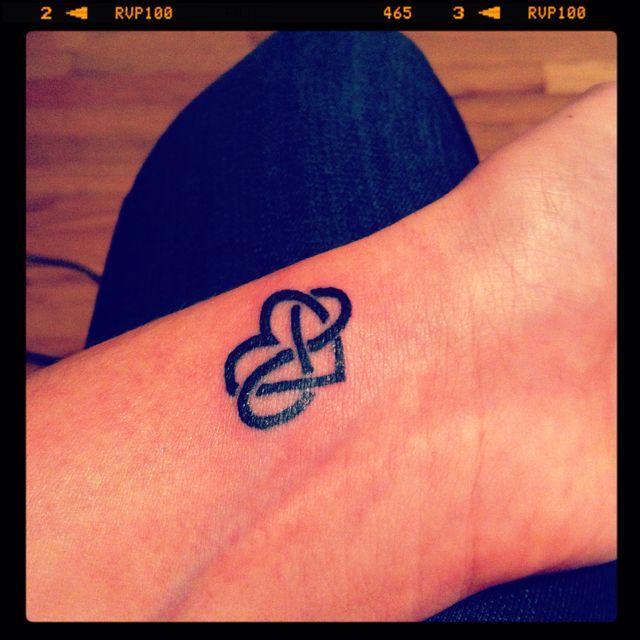 My birthday tattoo :) Eternal love <3