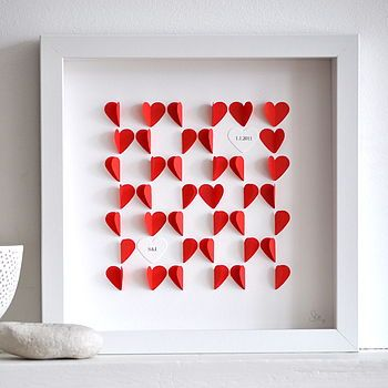 framed paper heart artwork by sarah & bendrix | notonthehighstreet.com