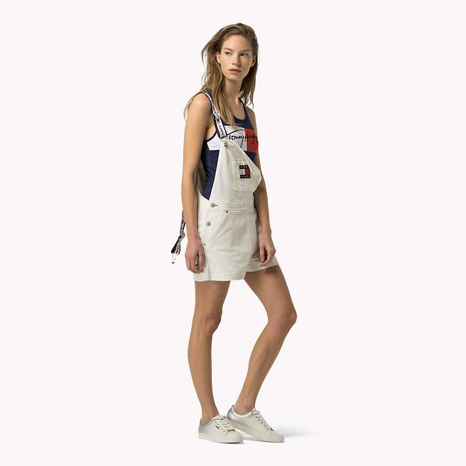 fcb2550a Tommy Hilfiger Denim Dungaree Shorts - white (Blue) - Tommy Hilfiger Jeans  - detail image 0