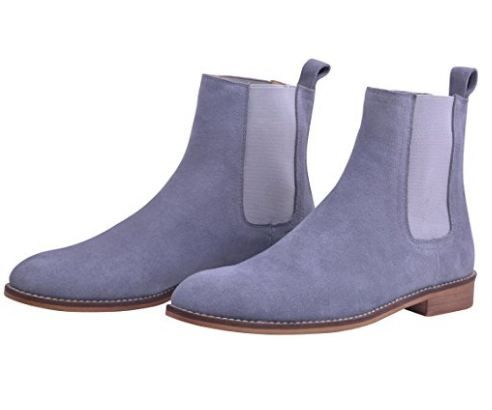 7246c34084e Chelsea Boots Men Suede Casual Dress Boots Ankle Boots Formal Shoes ...