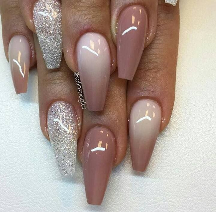 Nude/brown ombré nails ❤️ - Nude/brown Ombré Nails ❤ Nails Pinterest Nude, Brown And