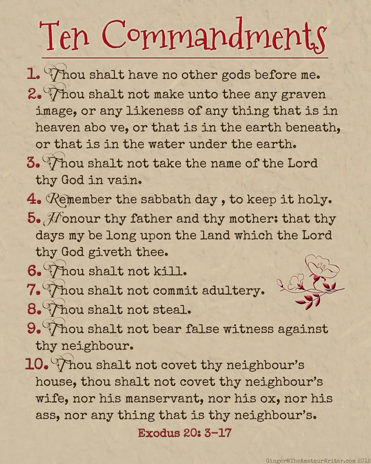 Dynamite image with regard to kjv ten commandments printable