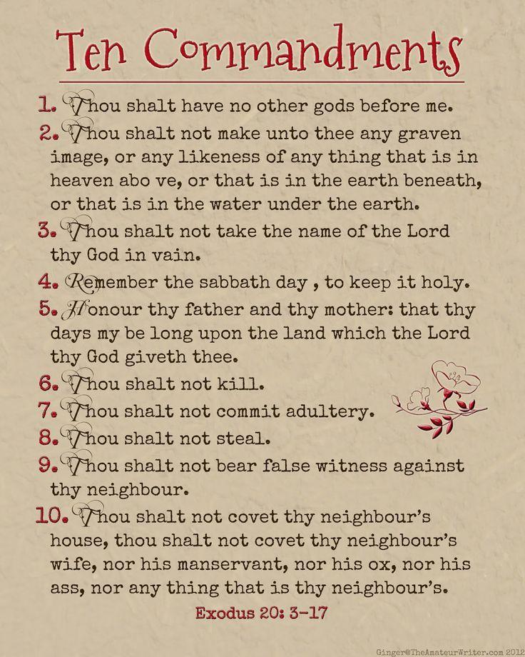 10 commandments bible # 3