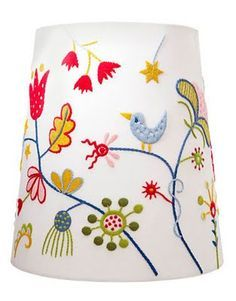 ikea embroidered lamp shade - Google Search | Textiles | Pinterest