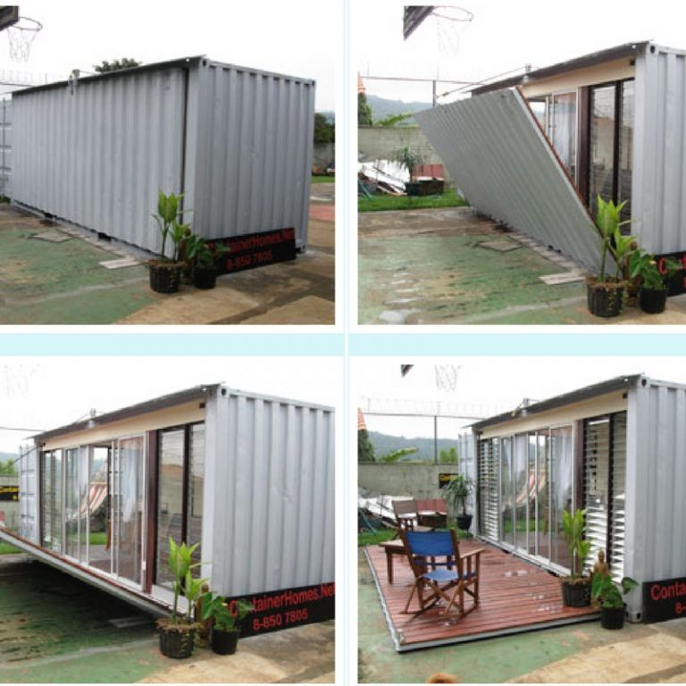 Simple Shipping Container Homes: TINY CONTAINER STUDIO APARTMENT