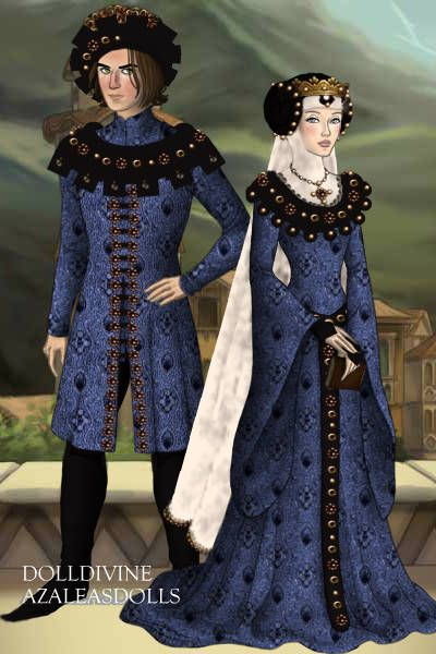 Medieval blue... ~ by Inanna ~ created using the LotR Hobbit doll maker | DollDivine.com