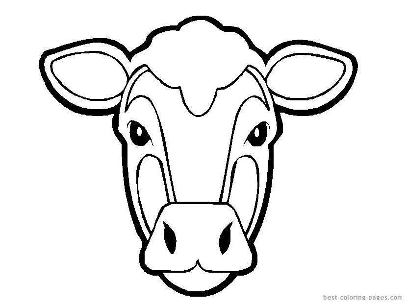 Pig Face Template Invitation Templates Cow Coloring Pages Animal Templates Animal Mask Templates