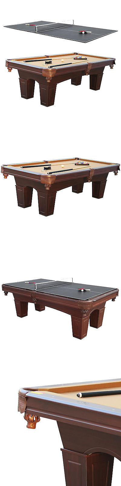 Tables 21213: Barrington 8 Square Leg Billiard Pool Table And Table Tennis  Top W Accessories
