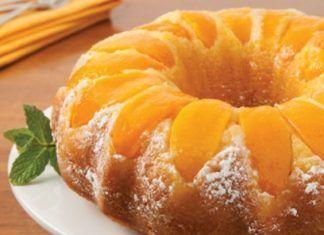 Double Peach Pound Cakes #peachcobblerpoundcake Double Peach Pound Cakes #peachcobblerpoundcake