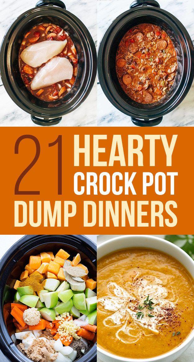 21 Crock Pot Dump Dinners For Winter Crockpot Recipes Slow Cooker Cooker Recipes Pot Recipes
