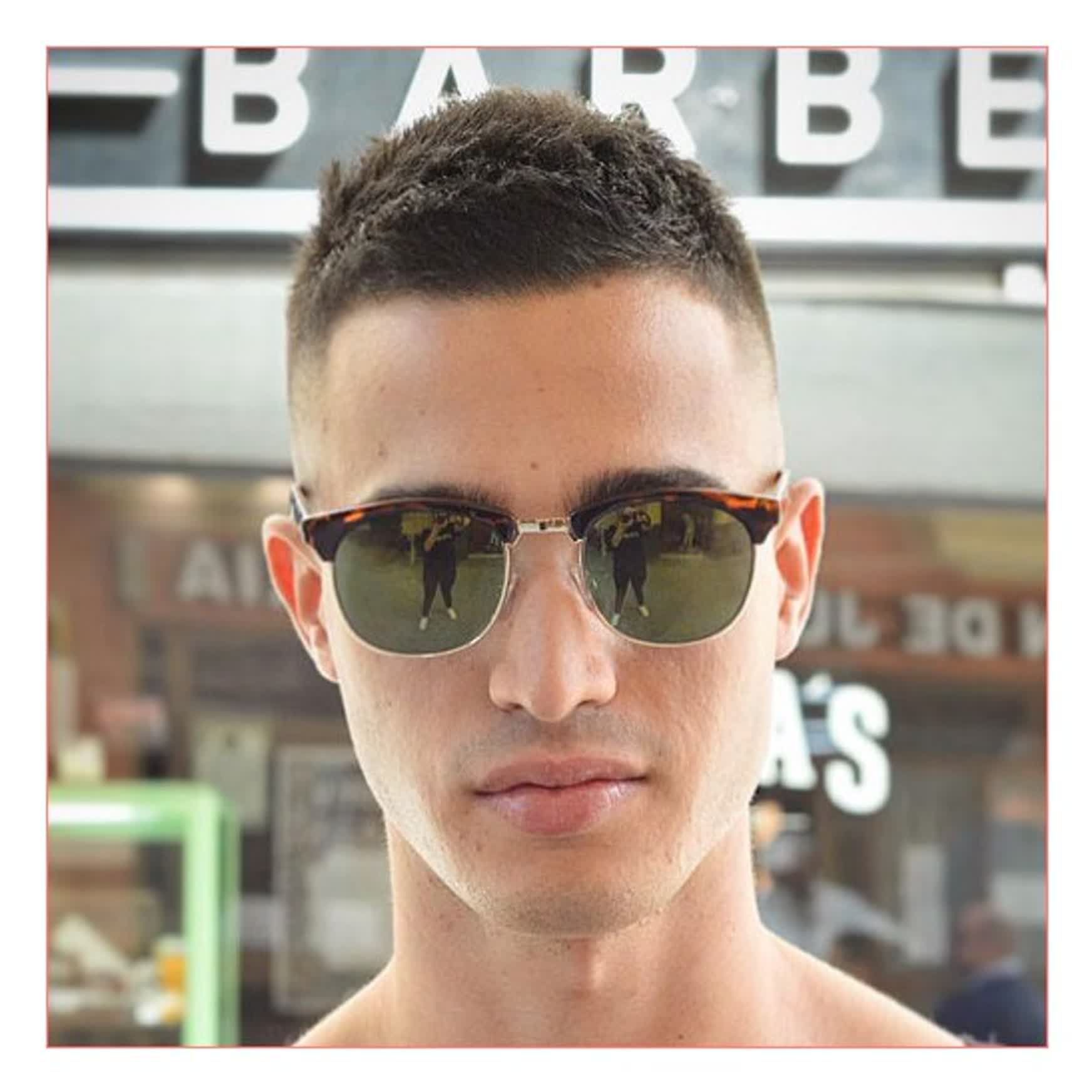 mens short haircuts for fine hair and high fade with crew
