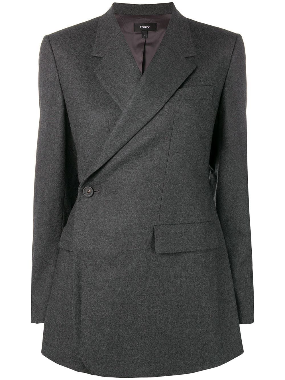 6515366373 THEORY THEORY SIDE BUTTON BLAZER - GREY. #theory #cloth   Theory in ...