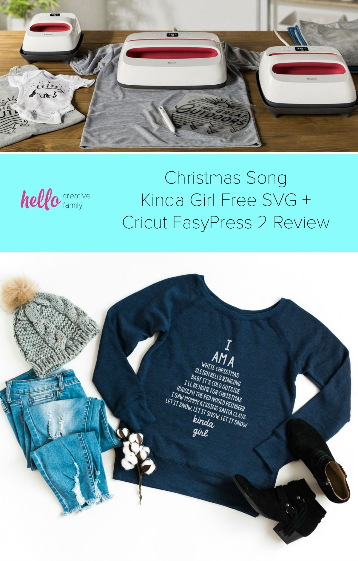 16 Free Christmas SVG Files + Cricut EasyPress 2 Review