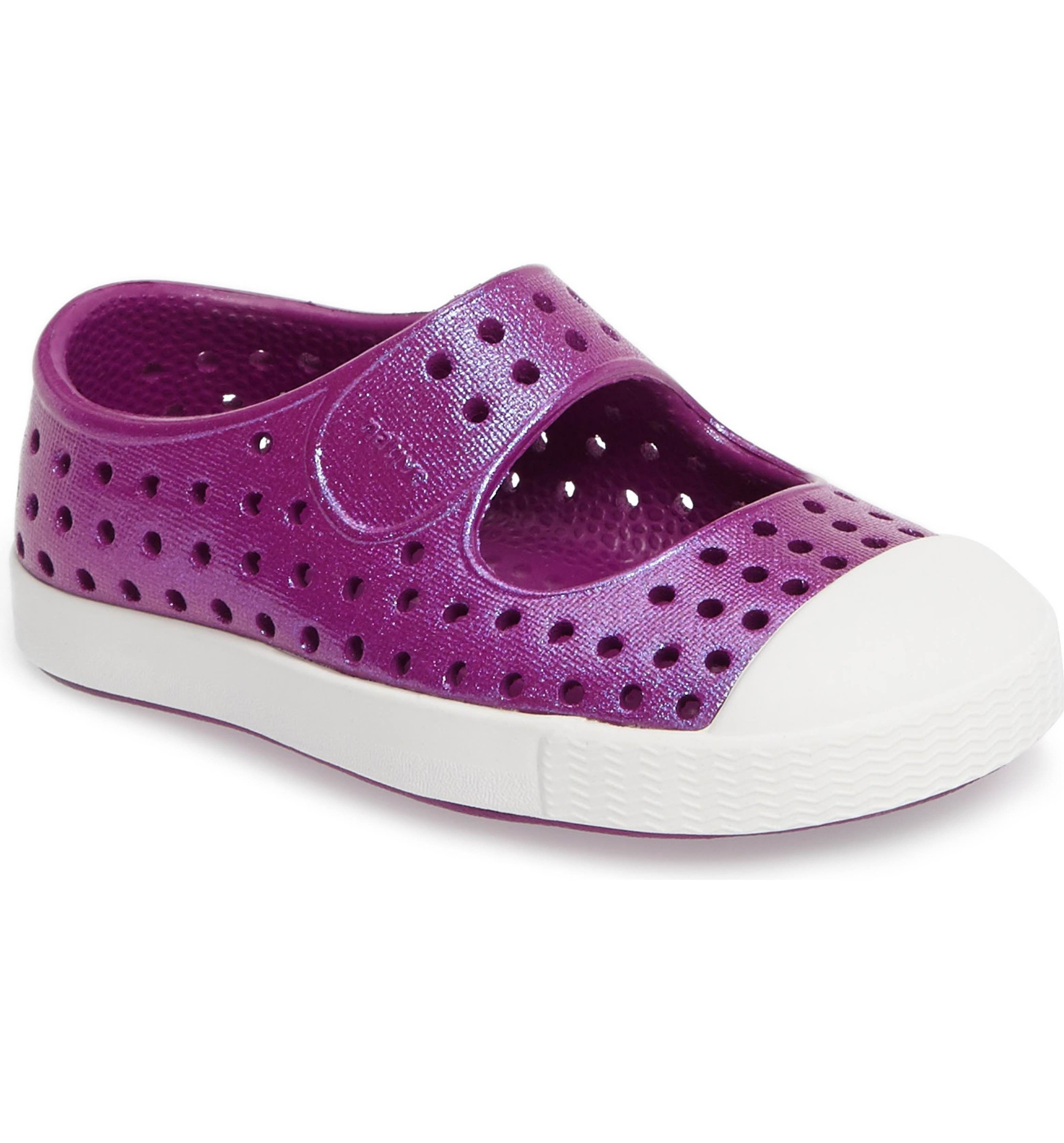 6069bc0092f Main Image - Native Shoes Juniper Perforated Mary Jane (Baby, Walker,  Toddler & Little Kid)