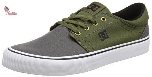 DC Shoes Trase TX M Shoe, Sneakers Basses Adulte Mixte - Ivoire - Elfenbein (103), 45